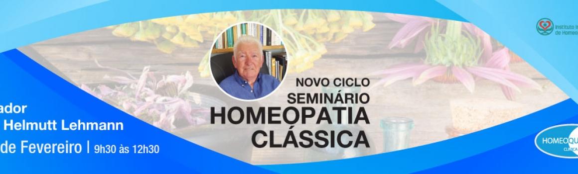 Seminário de Homeopatia Clássica – 25 de Fevereiro de 2018
