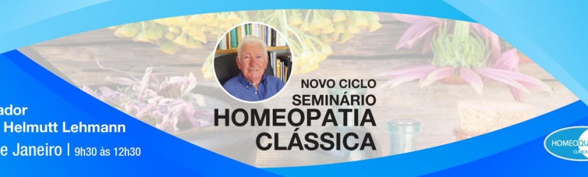 Seminário de Homeopatia Clássica – 7 de Janeiro de 2018