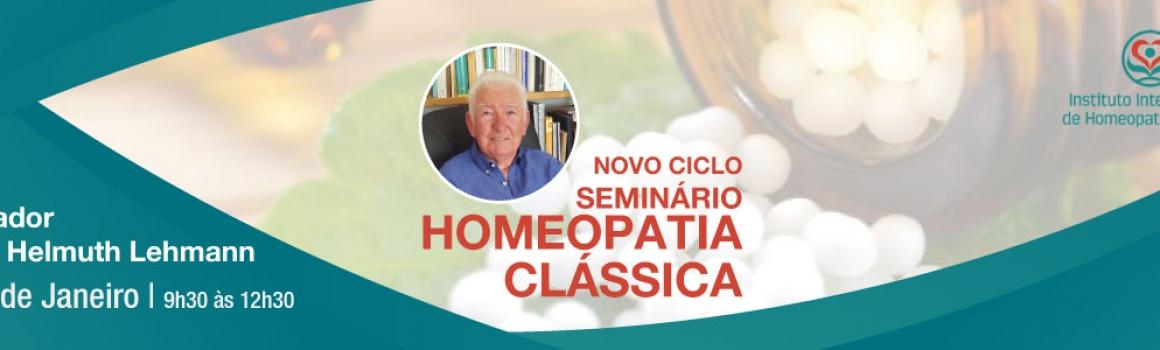 Seminário de Homeopatia Clássica – 27 de Janeiro de 2019