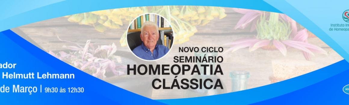 Seminário de Homeopatia Clássica – 11 de Março de 2018
